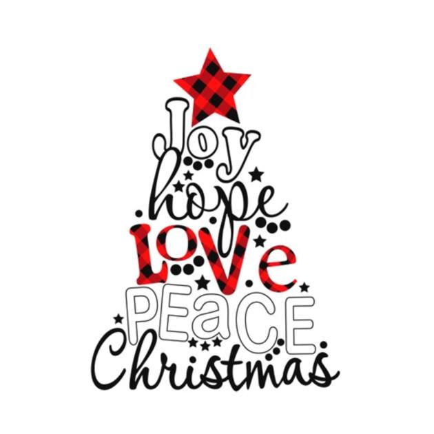 Download Joy hope love peace christmas - Christmas Gifts - T-Shirt ...