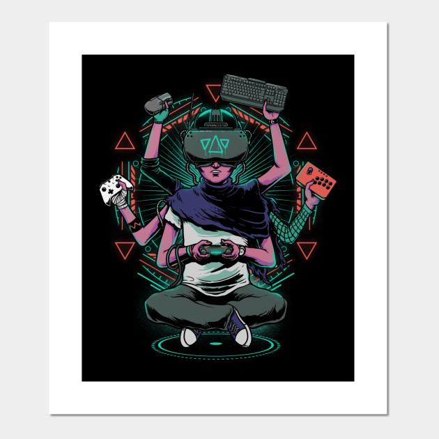 Cool gamer pictures for xbox 360. God Of Gaming Gamer Posters And Art Prints Teepublic