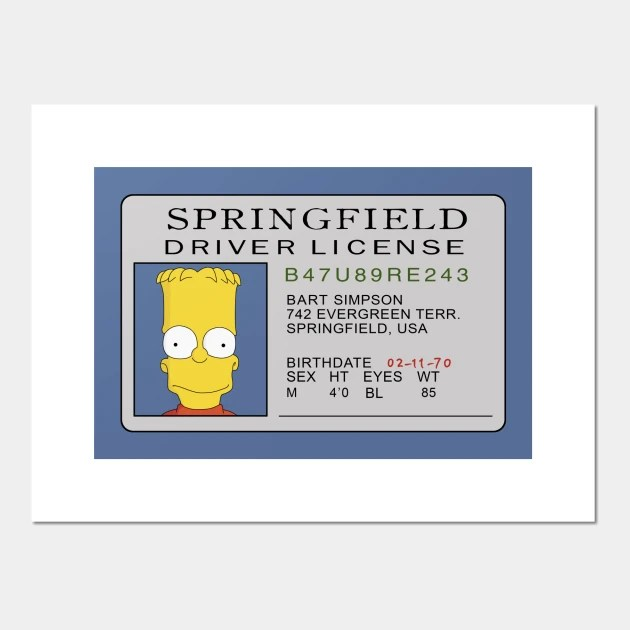 springfield driver license by outlawmerch