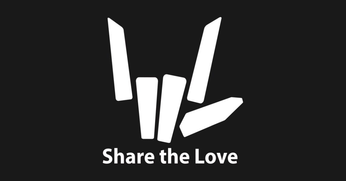 Download share the love - Share The Love Logo - Naklejka   TeePublic PL