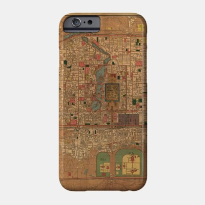 Vintage Map of Beijing China  1914    Beijing Map   Phone Case     2022901 1