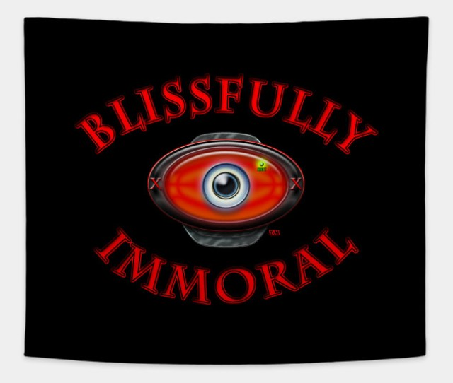Blissfully Immorals Red Adult Webcam Tapestry
