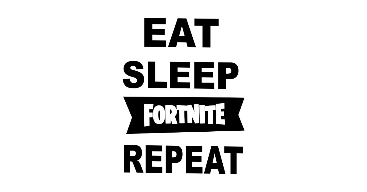 Eat Sleep Fortnite Repeat Fortnite Pillow TeePublic