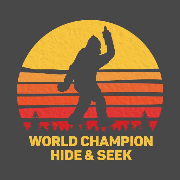 Retro World Champion Hide And Seek Bigfoot Vintage T Shirt