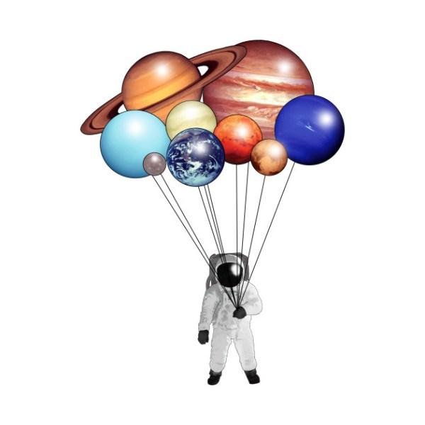 Planet Balloons Space Kids TShirt TeePublic