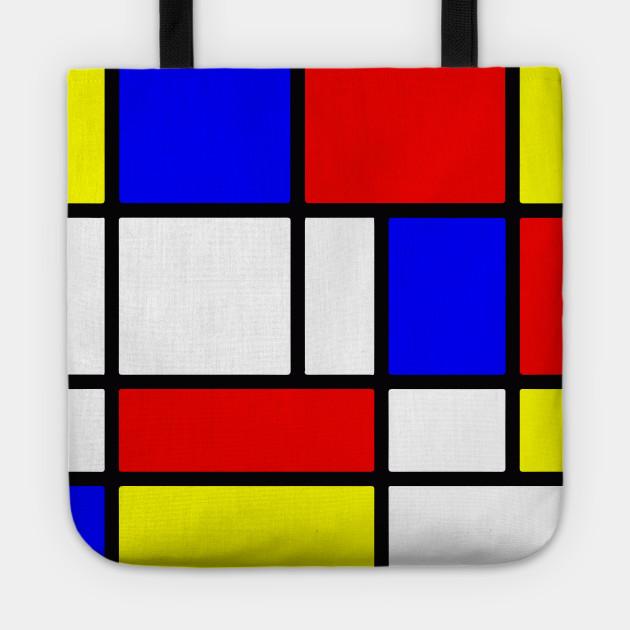 Mondrian De Stijl Art De Stijl Tote Teepublic