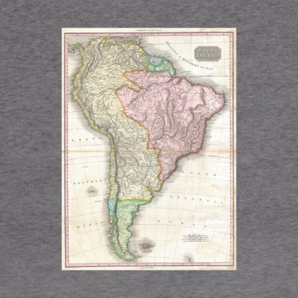 Vintage Map of South America  1818    South America Map   Hoodie     2252123 1