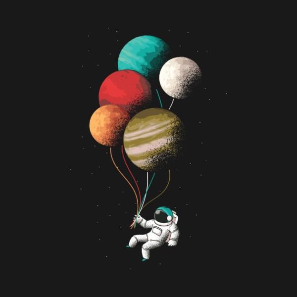 Astronaut Holding A Balloons Astronaut TShirt TeePublic