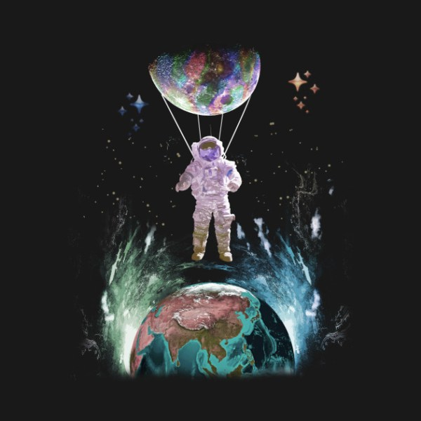Astronaut Balloon Outer Space Planet TShirt Outer Space