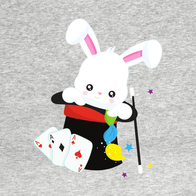 White Bunny Coming Out Of A Hat, Magic Trick - Magic Rabbit In A ...