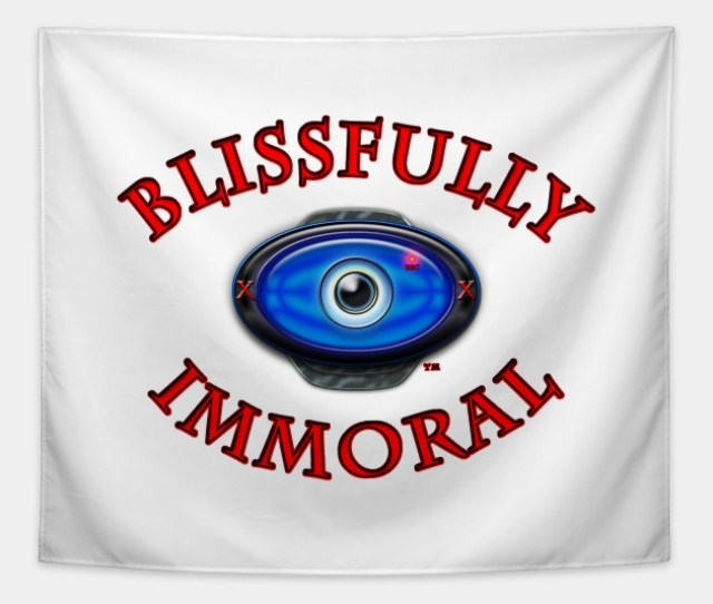 Blissfully Immorals Blue Adult Webcam Tapestry