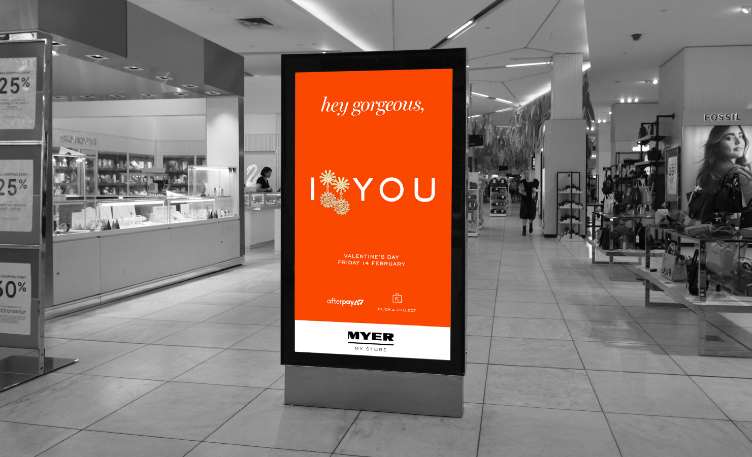 Myer Valentines Day In-Store Advertising POS