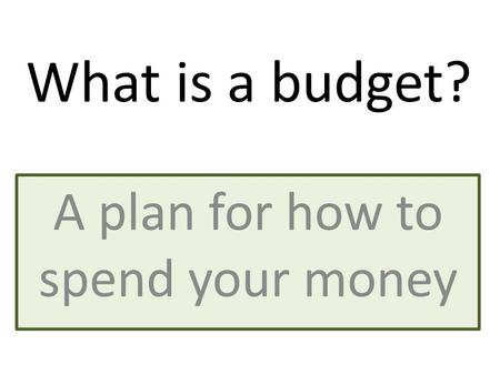 What is a budget and income and expenditure