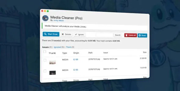 Media Cleaner Pro 6.0.5 Nulled - Cleans Media Library and Uploads Directory