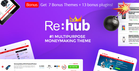 Rehub 12.9 - Affiliate Marketing, Multi Vendor Store, Community Theme