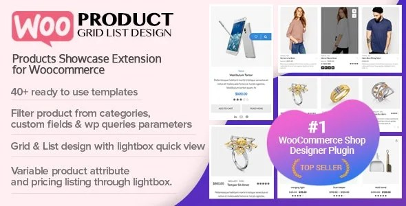Woo Product Grid List Design 1.0.6 - Responsive Products Showcase
