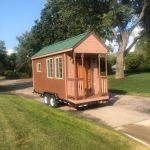 Full Cedar House On Wheels We Deliver Ships Quick Tiny House For Sale In Bloomfield Hills Michigan Tiny House Listings