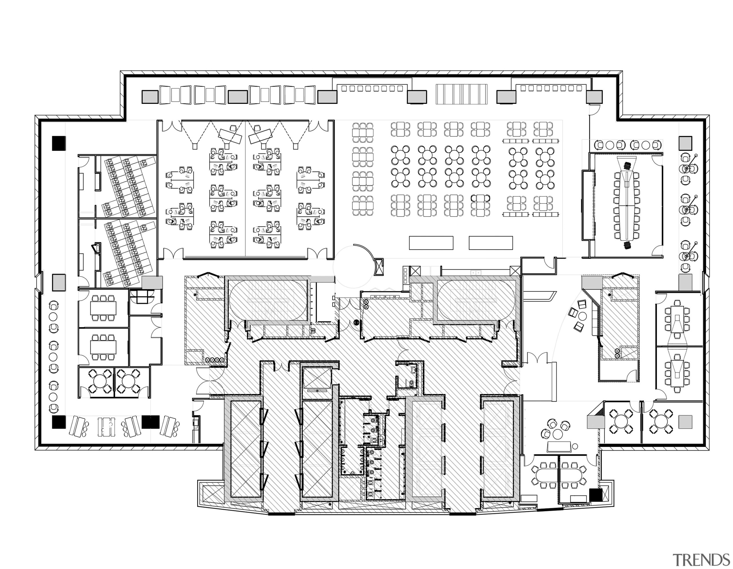 This Partial Plan Of A Back Office