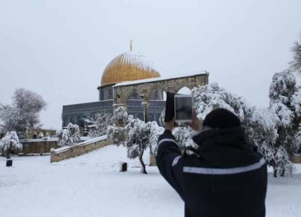 Salju-Yerusalem-kubah-as-sakhrah-2jpg