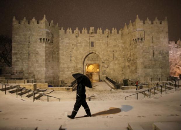 Salju-Yerusalem-