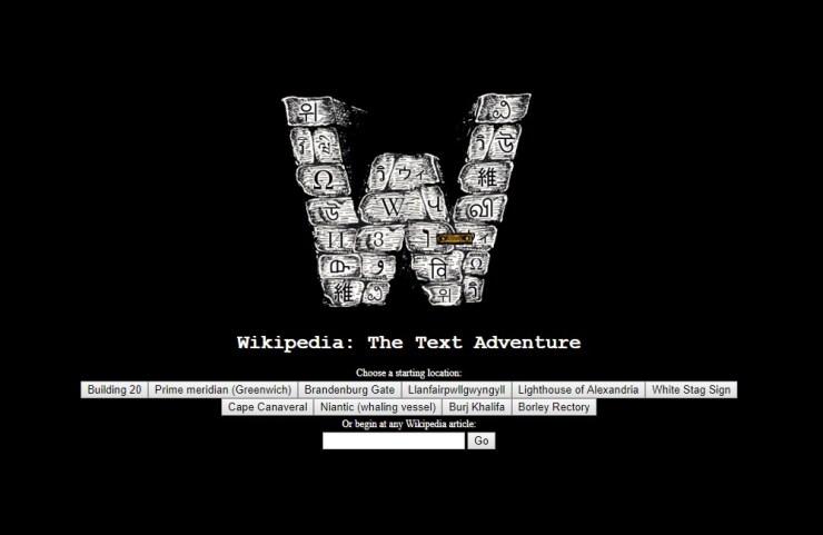 Wikipedia Dibuat Jadi Game Petualangan Text-Based, Seperti Apa Jadinya?