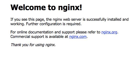 Install NGINX on server