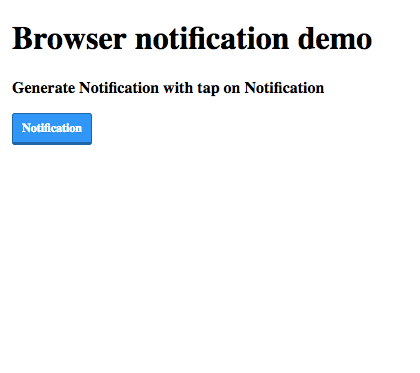 Display Browser Notification Using Web Notification API