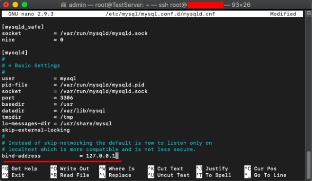 Connect to a MySQL database remotely