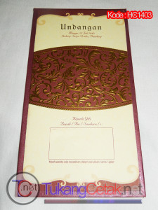 Undangan pernikahan Murah Tangerang Hard Cover