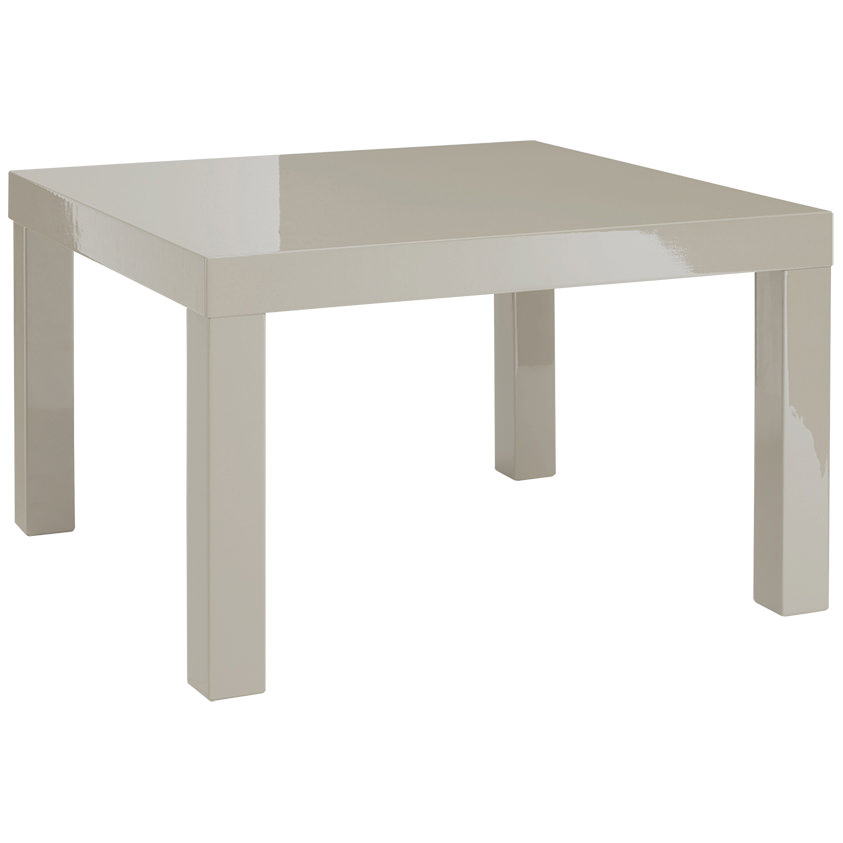 details about high gloss end lamp small square side table stone grey cream white charcoal