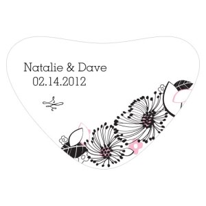 Floral Fusion Heart Container Sticker Pastel Pink