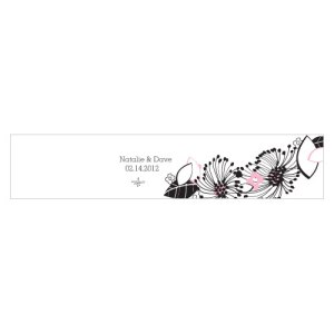 Floral Fusion Water Bottle Label Pastel Pink
