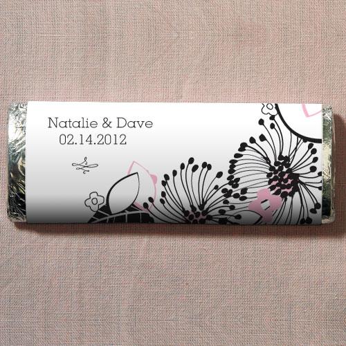 Floral Fusion Nut Free Gourmet Milk Chocolate Bar Pastel Pink