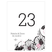 Floral Fusion Table Number Numbers 1-12 Pastel Pink