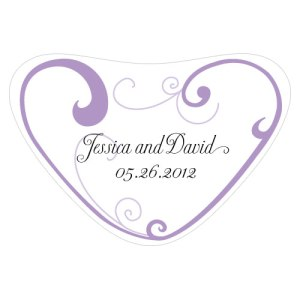 Heart Filigree Heart Container Sticker Lavender