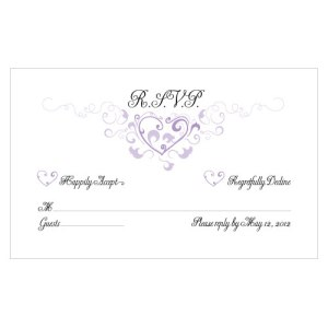 Heart Filigree RSVP Lavender