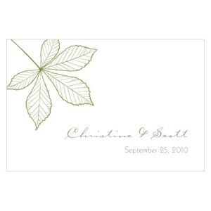 Autumn Leaf Large Rectangular Tag Willow Green