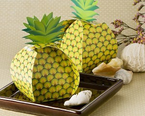 Tropical Treats Oversized Pineapple Favor Box 24 Pack Favor Boxes