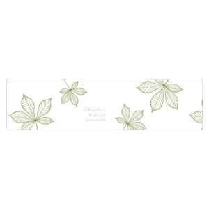 Autumn Leaf Cube Favor Box Wrap Willow Green