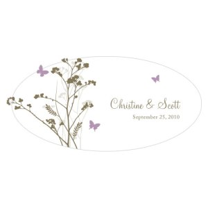 Romantic Butterfly Small Cling Lavender