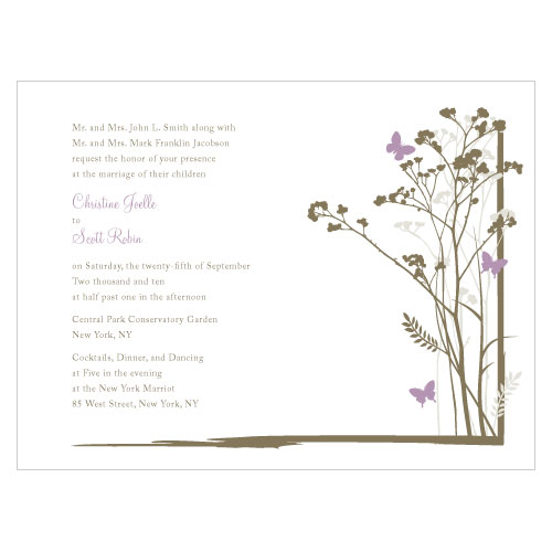 Romantic Butterfly Invitation