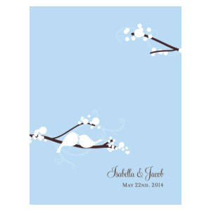 Love Bird Place Card With Fold Winter