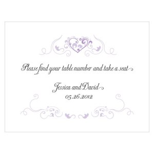 Heart Filigree Note Card Lavender