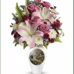 Thomas Kinkade Centerpiece Flowers Gardening Flower And Vegetables