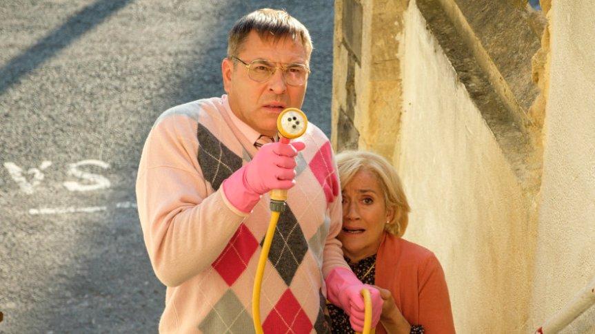 David Walliams  as Derek Swallows in second series of Sandylands