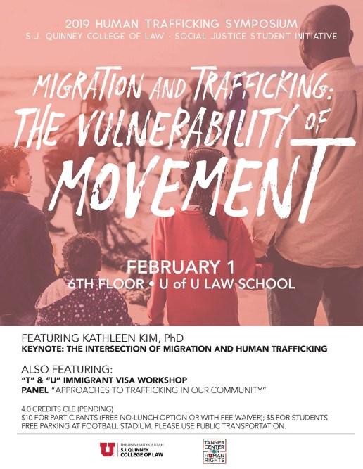 U of U College of Law Human Trafficking Symposium poster 2019