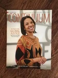 Erika George, Continuum magazine