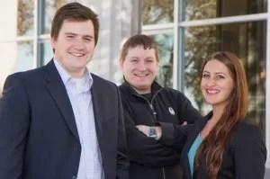 The team of Ian Quiel, Adam Knorr and Kirsten Allen