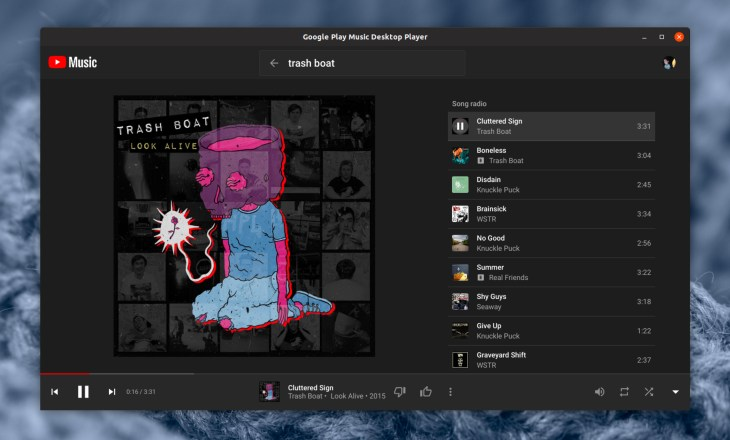 Unofficial Google Play Music & YouTube Music Desktop Player