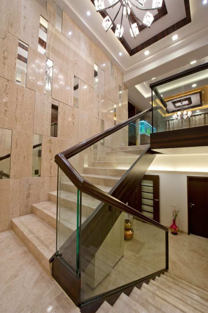 Staircase With Marble Flooring By Dhruv Urbanclap